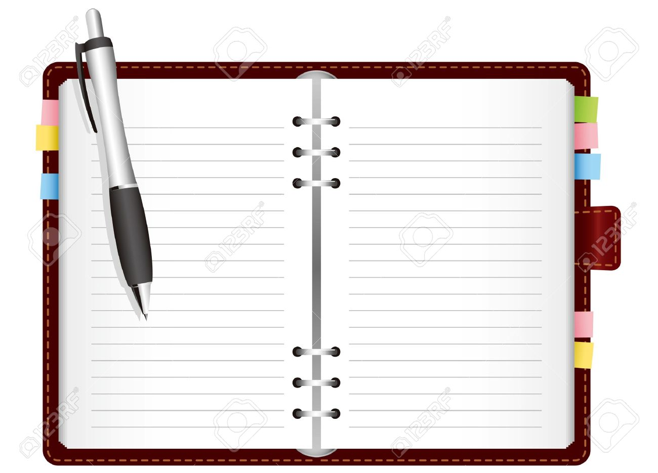 Illustration - diary with colored tabs. Vector Stock Vector - 11898937