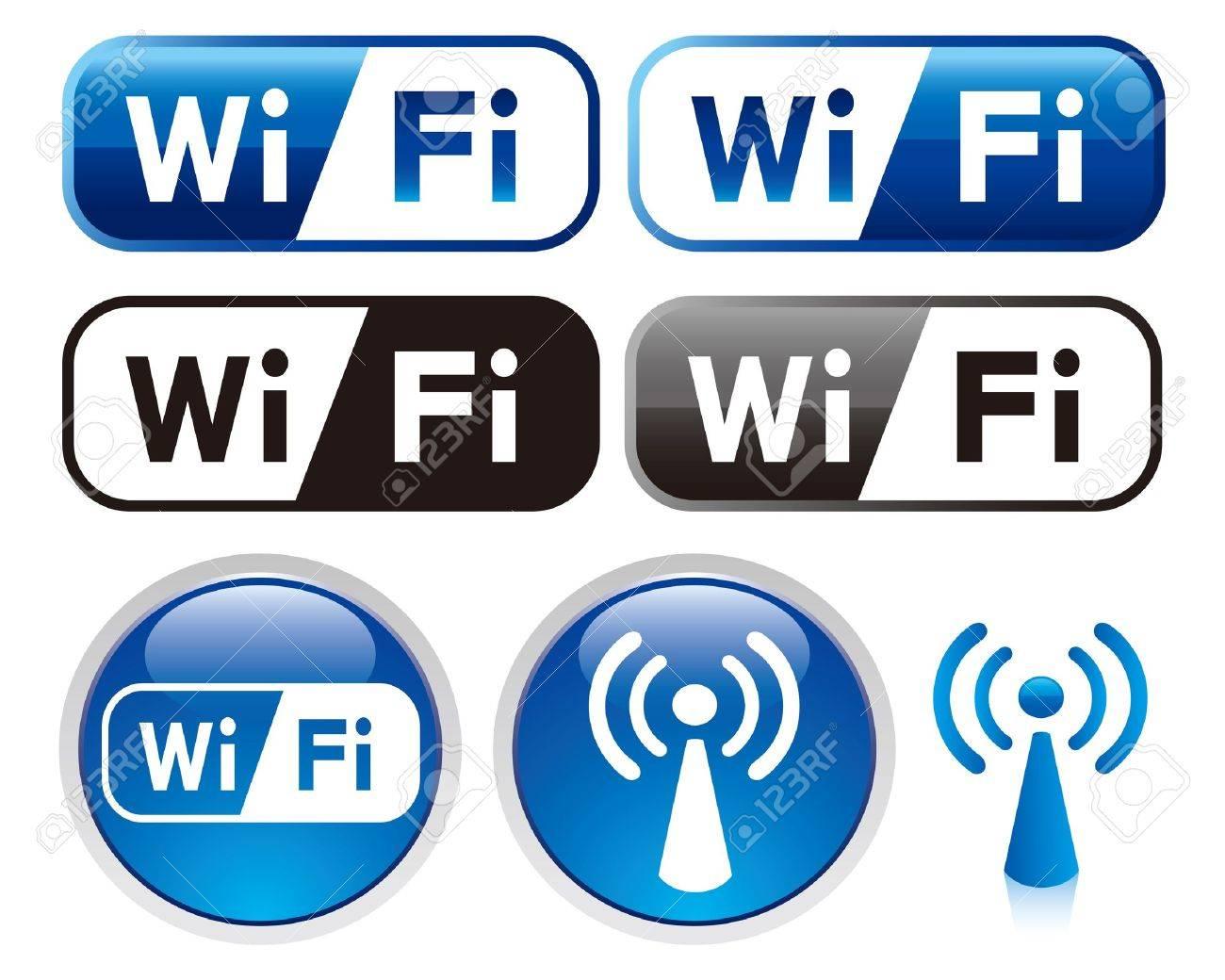 wifi sign icon set - 12391096