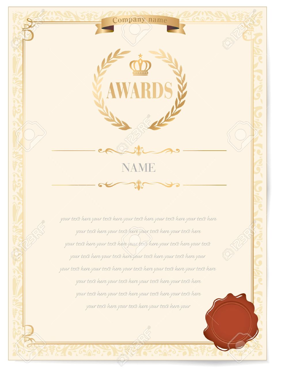 Illustration of a certificate award of excellence with golden illustration of a certificate award of excellence with golden ribbon stock vector 12483159 1betcityfo Image collections