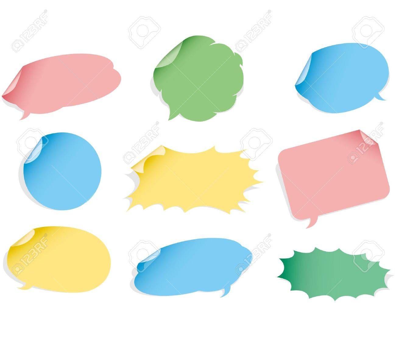 Vector speech bubble. Sticker set. Stock Vector - 12483228