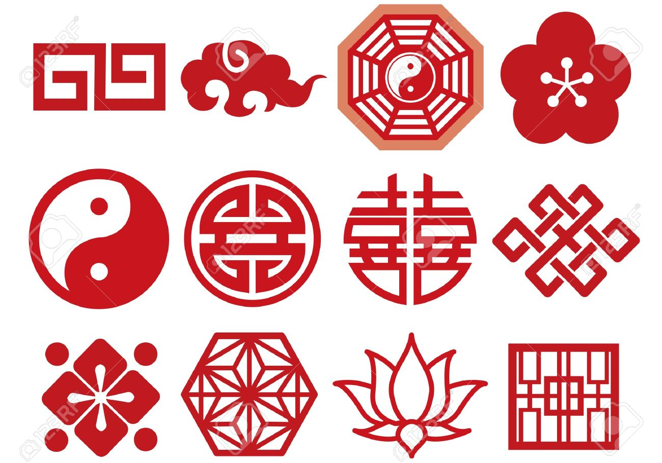 Chinese Asian icons set vector Stock Vector - 12839888