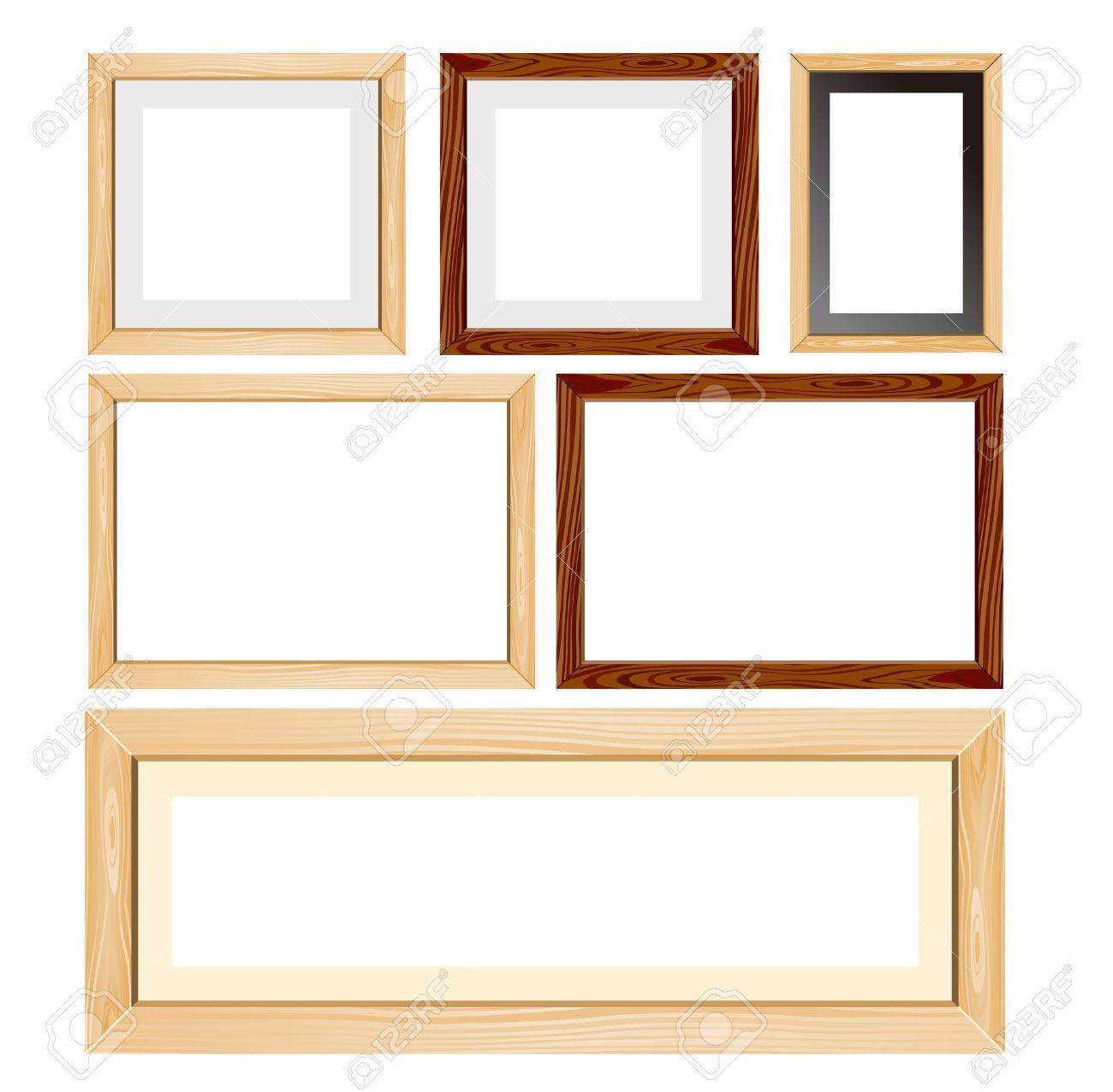 Wood frames set free vector - Wooden Frame Photo Frame Wood Frames Set Vector