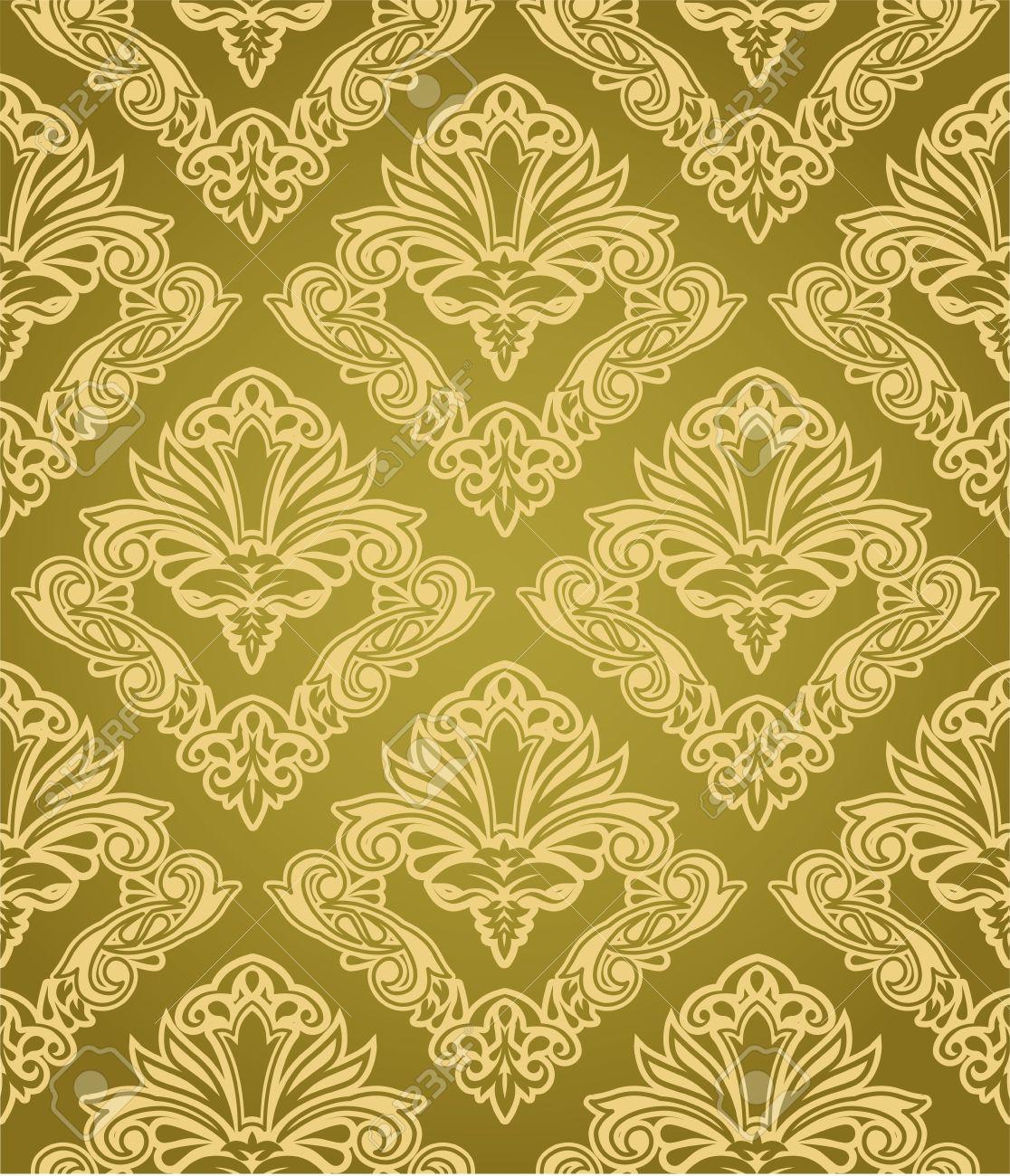 Seamless gold wallpaper pattern