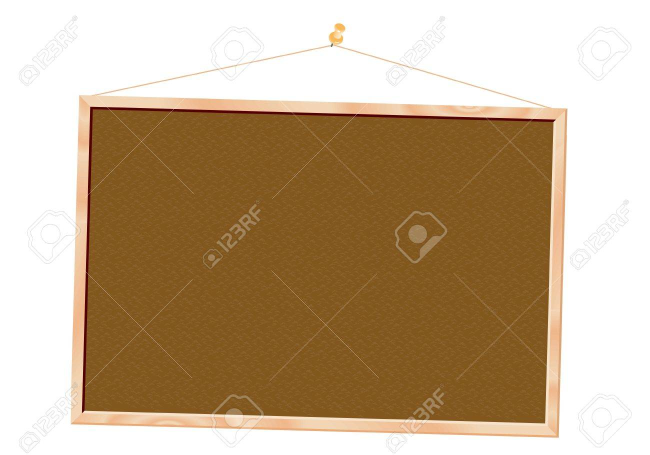 Cork board isolated over white background Stock Vector - 13076322