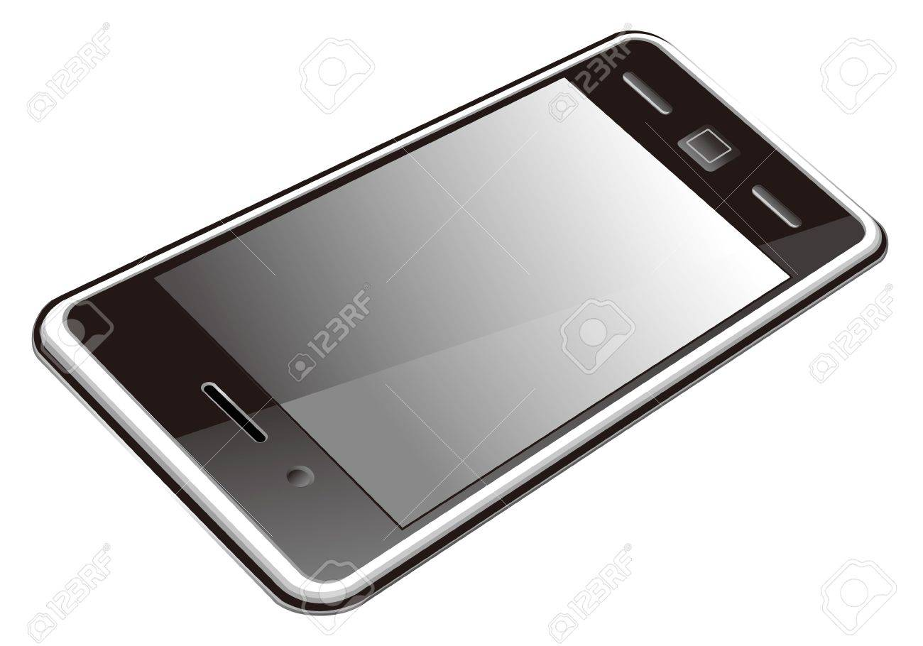 smart phone, touch screen phone isolated on the white background Stock Vector - 13109000