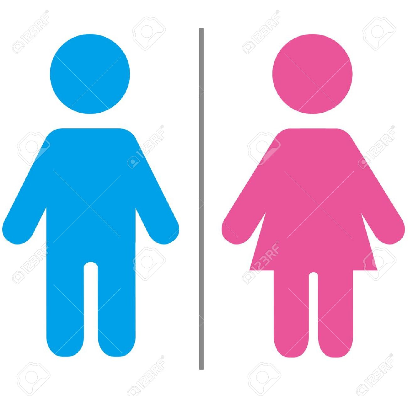 Bathroom Signs Vector cute male and female sign royalty free cliparts, vectors, and