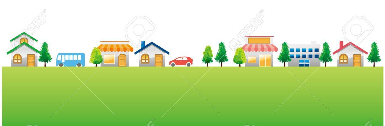 city town background Stock Vector - 19687607
