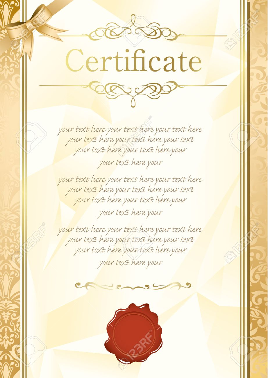 Retro Frame Certificate Template Vector Royalty Free Cliparts ...