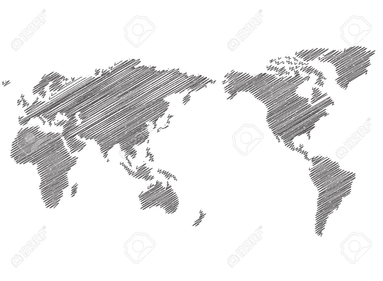 vector world map sketch vector