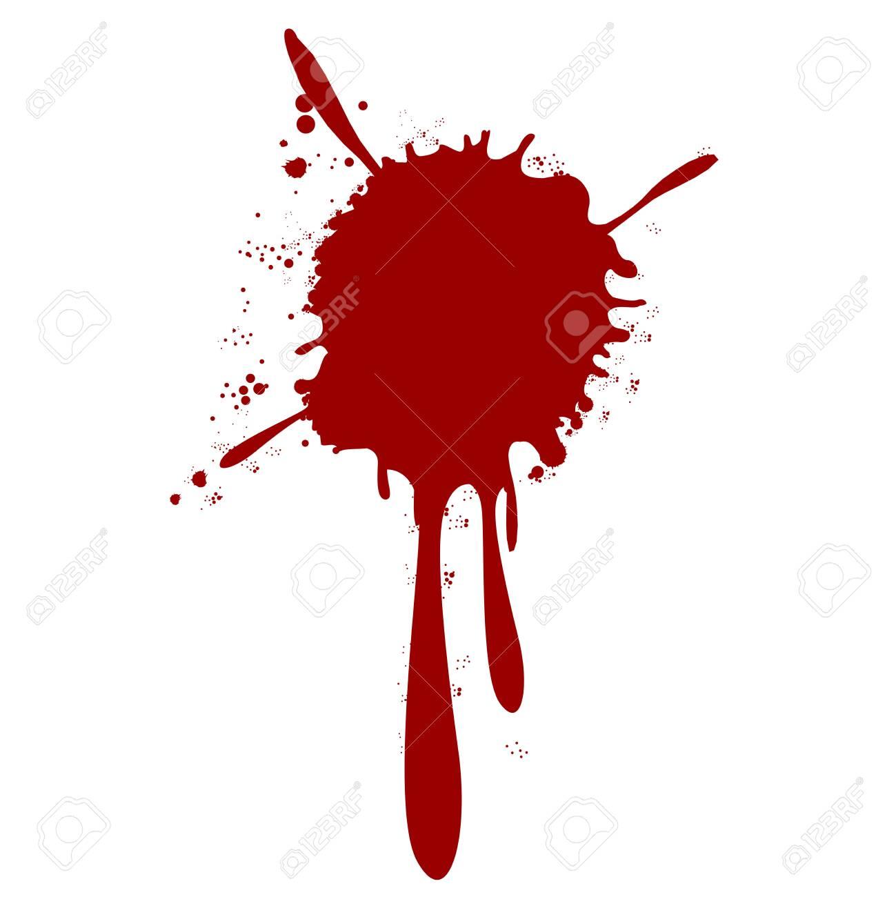 blood splatter splash drop paint - 138768177