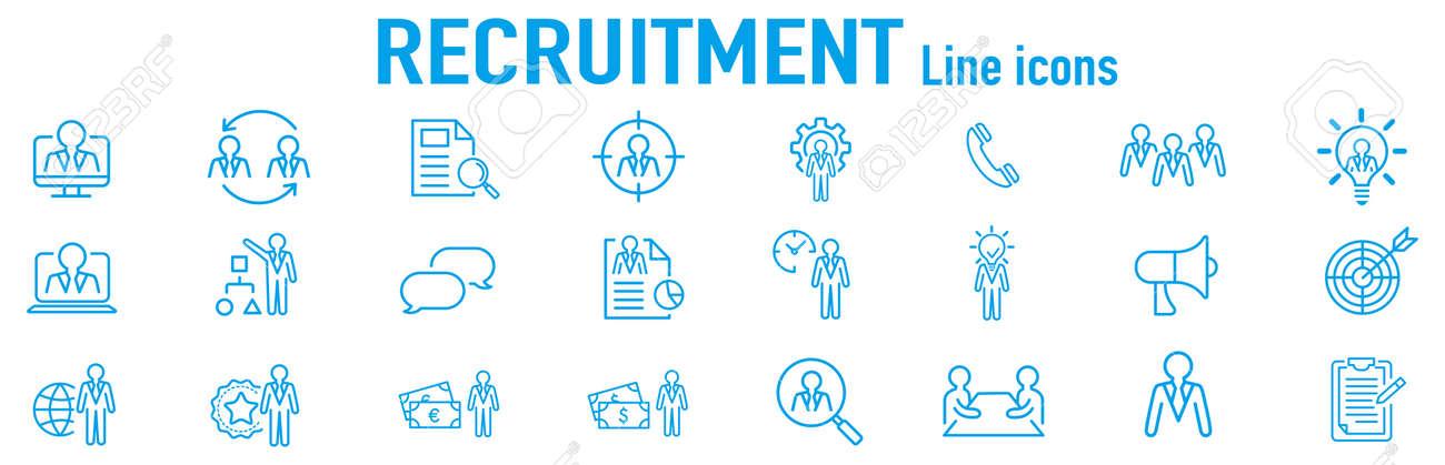 Set of recruitment vector Outline - 171135892