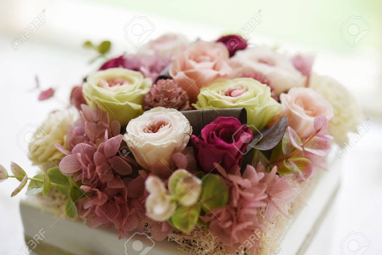 A Beautiful Present, Preserved Flower Stock Photo, Picture And ...