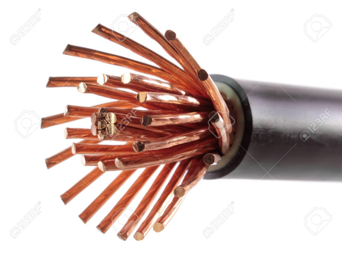 Das Geklärte Kupfer Stromkabel Lizenzfreie Fotos, Bilder Und Stock ...