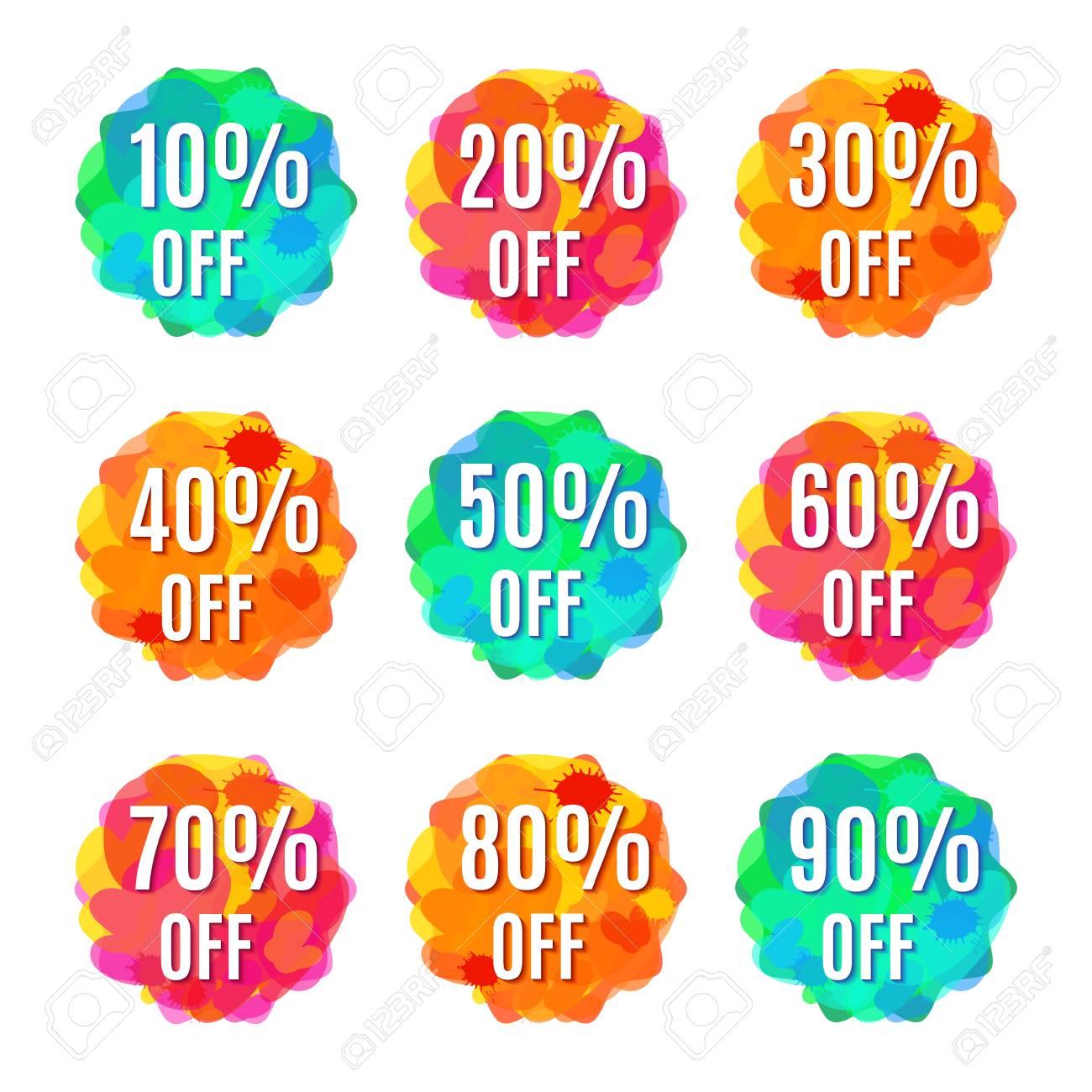 set of nine original discount price tags designs shopping
