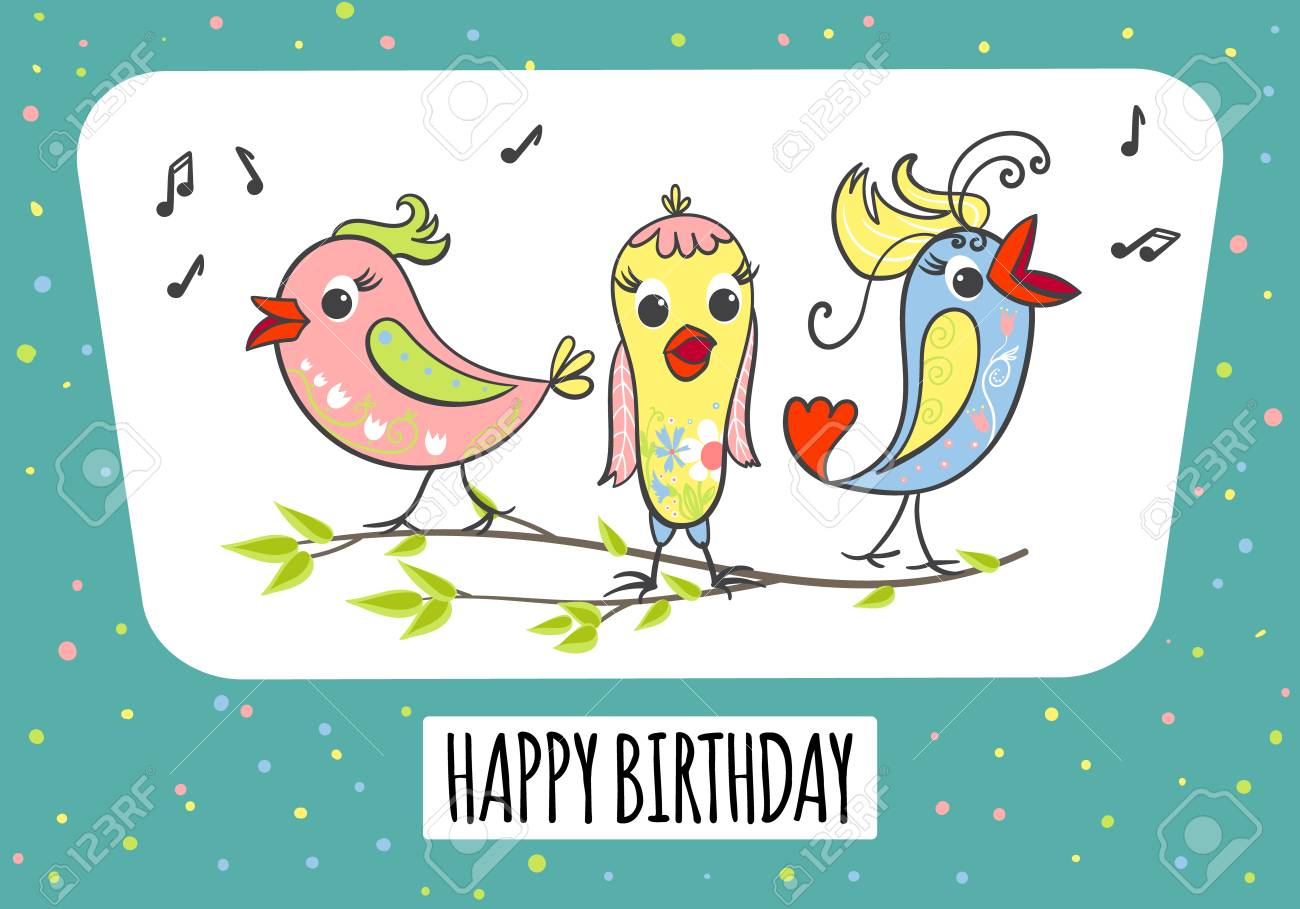 Birthday Cards For Singers - Card Design Template