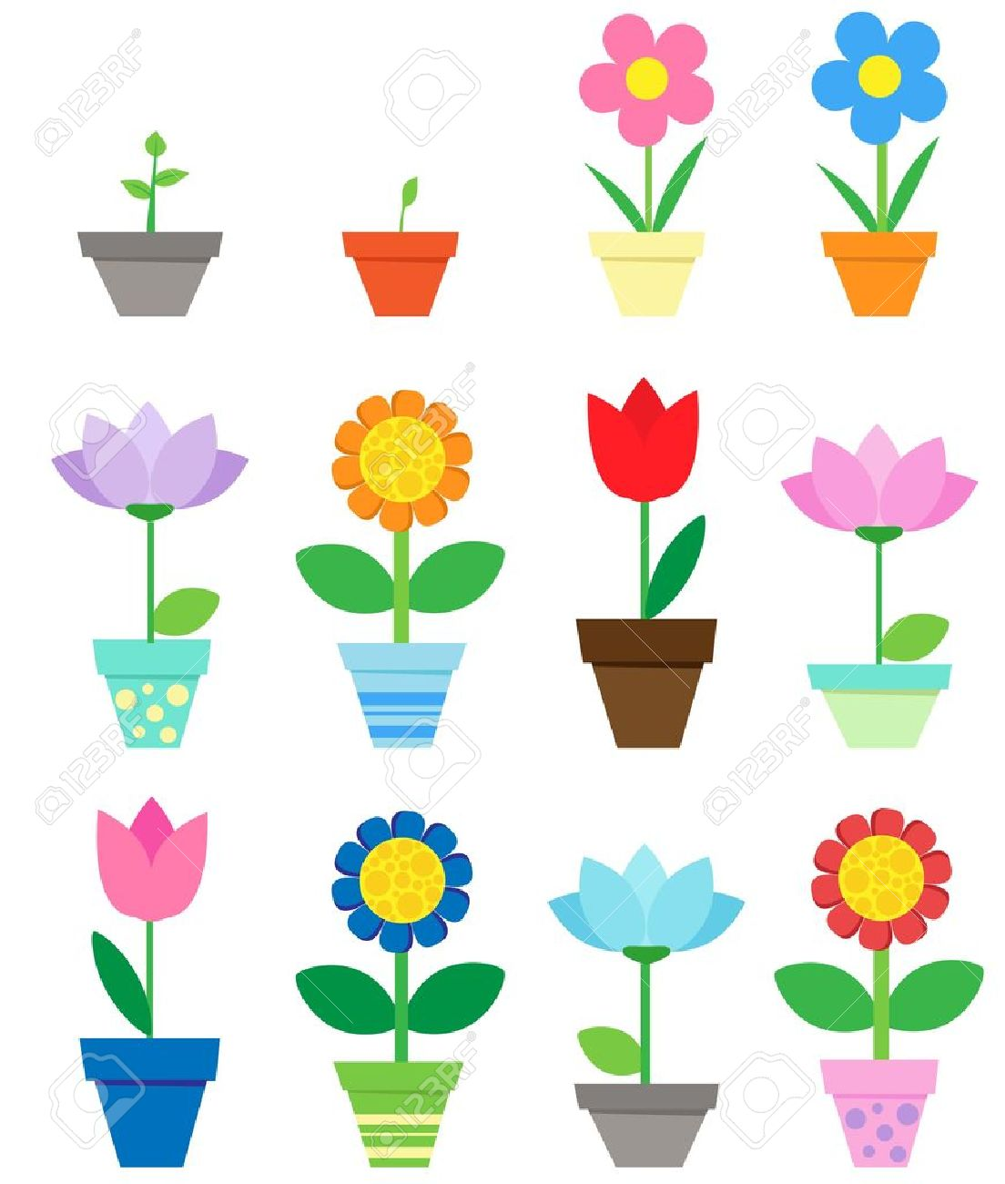 5,206 Flower Vase Isolated Cliparts, Stock Vector And Royalty Free ...