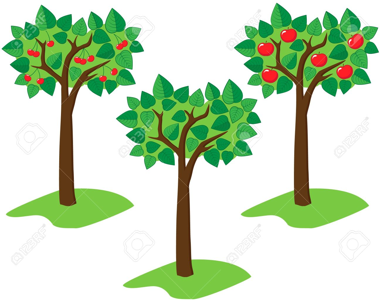 91 485 fruit tree cliparts stock vector and royalty free fruit