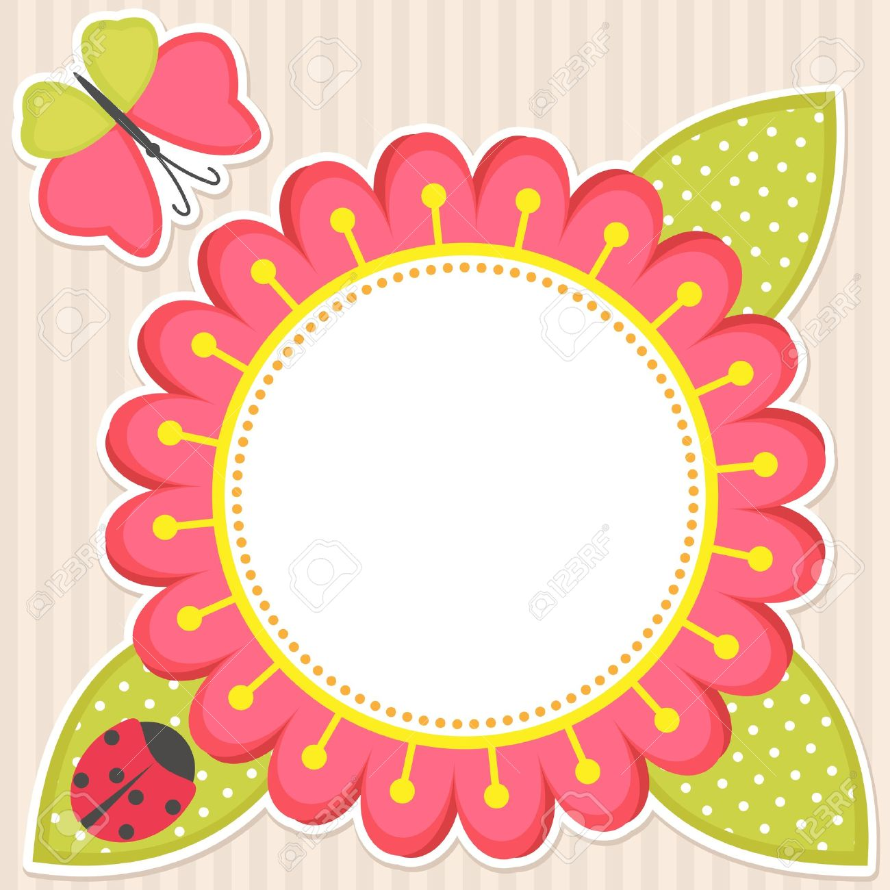 Vector floral frame with butterfly and ladybug royalty free cliparts vector floral frame with butterfly and ladybug stock vector 12393573 stopboris Images