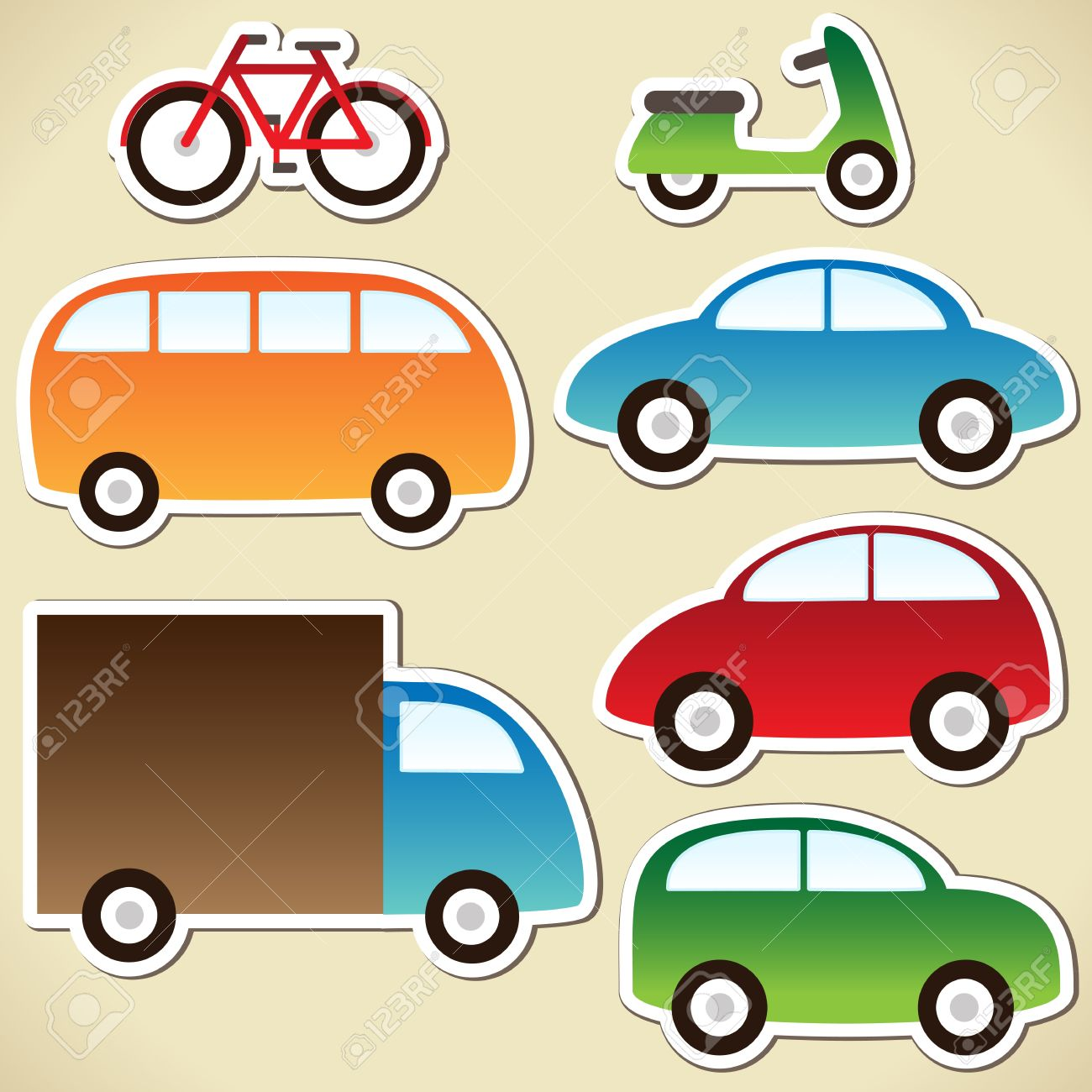 Transport set with cartoon cars - 13297203