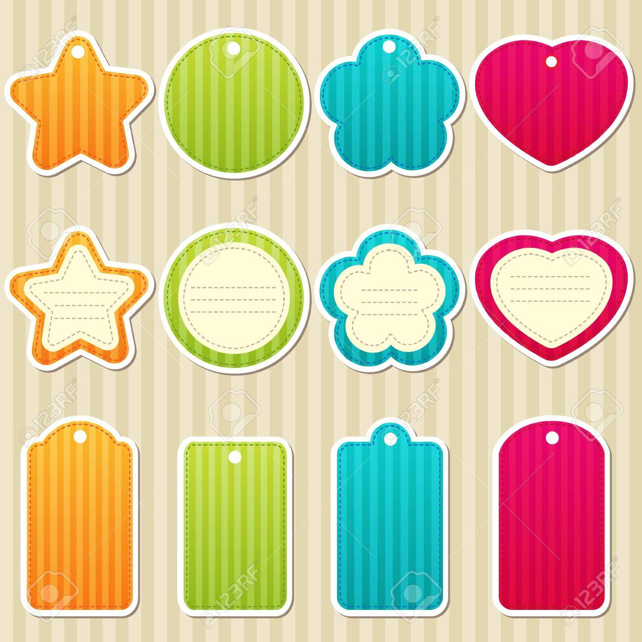 set of tags and frames Stock Vector - 13297215