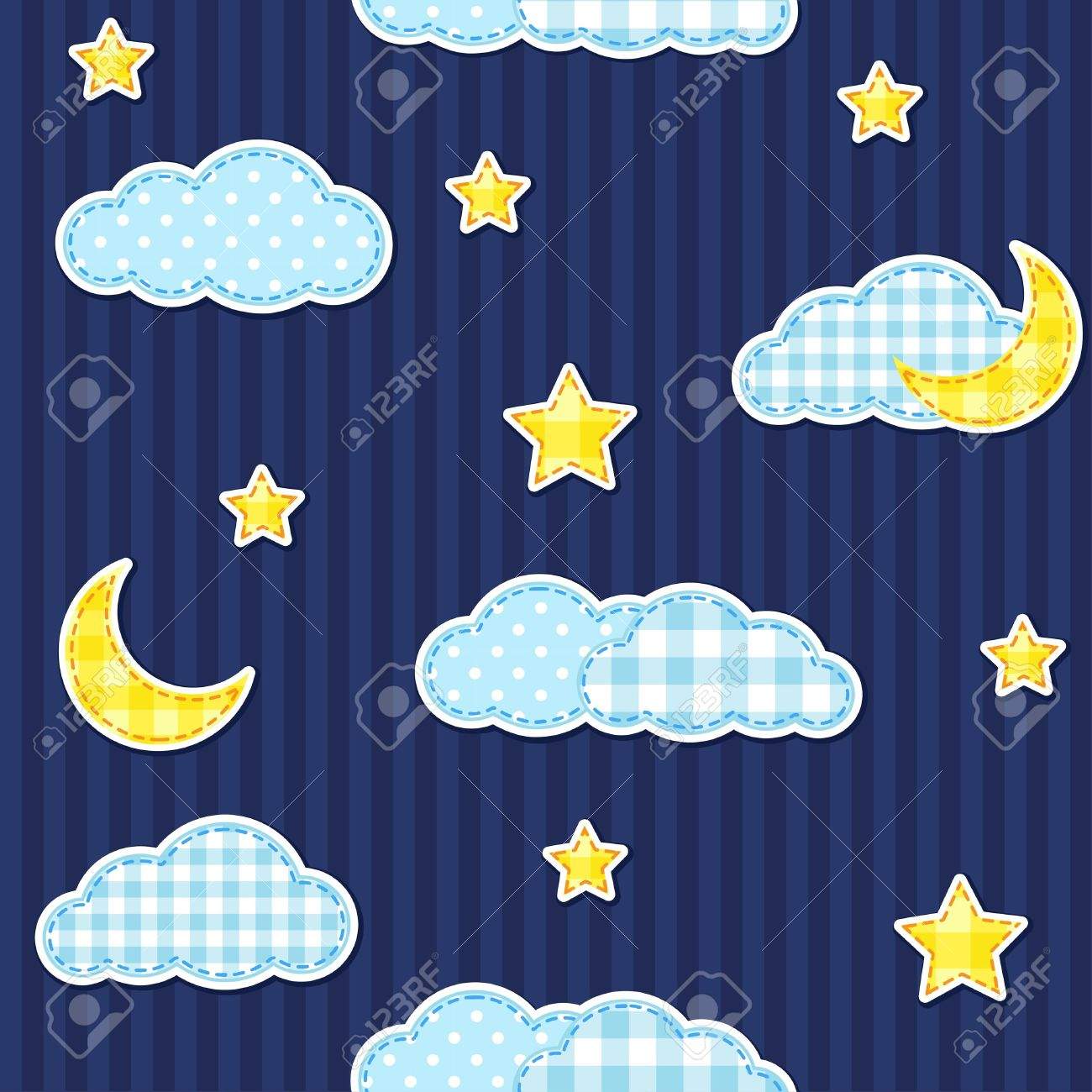 Night sky seamless pattern Stock Vector - 14714605
