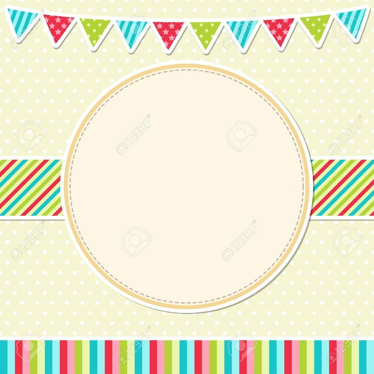 Birthday card with garland - 14714603