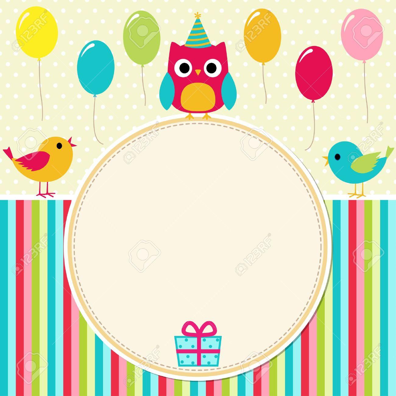 Birthday card with birds Stock Vector - 14714607