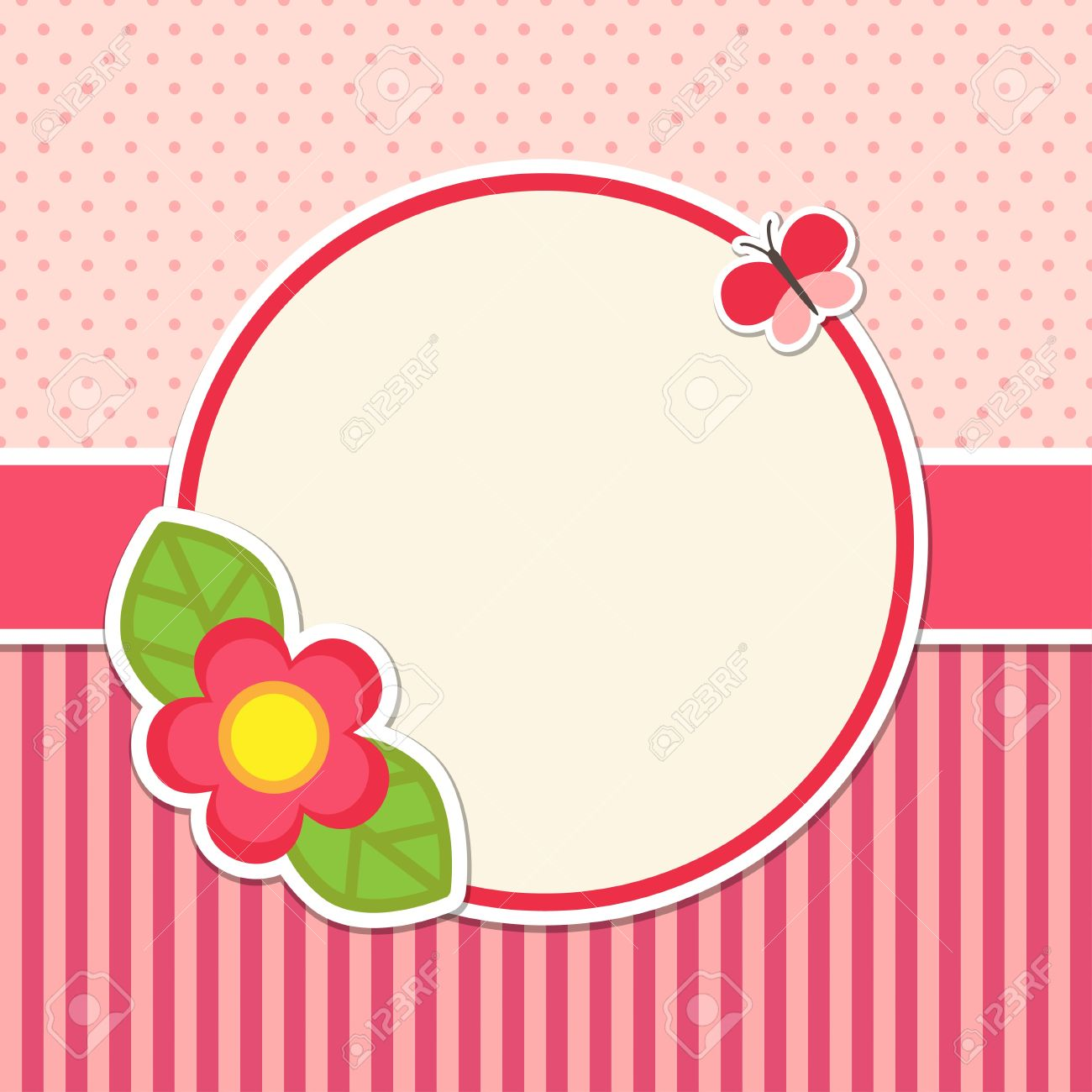 Frame with flower and butterfly Stock Vector - 15133358