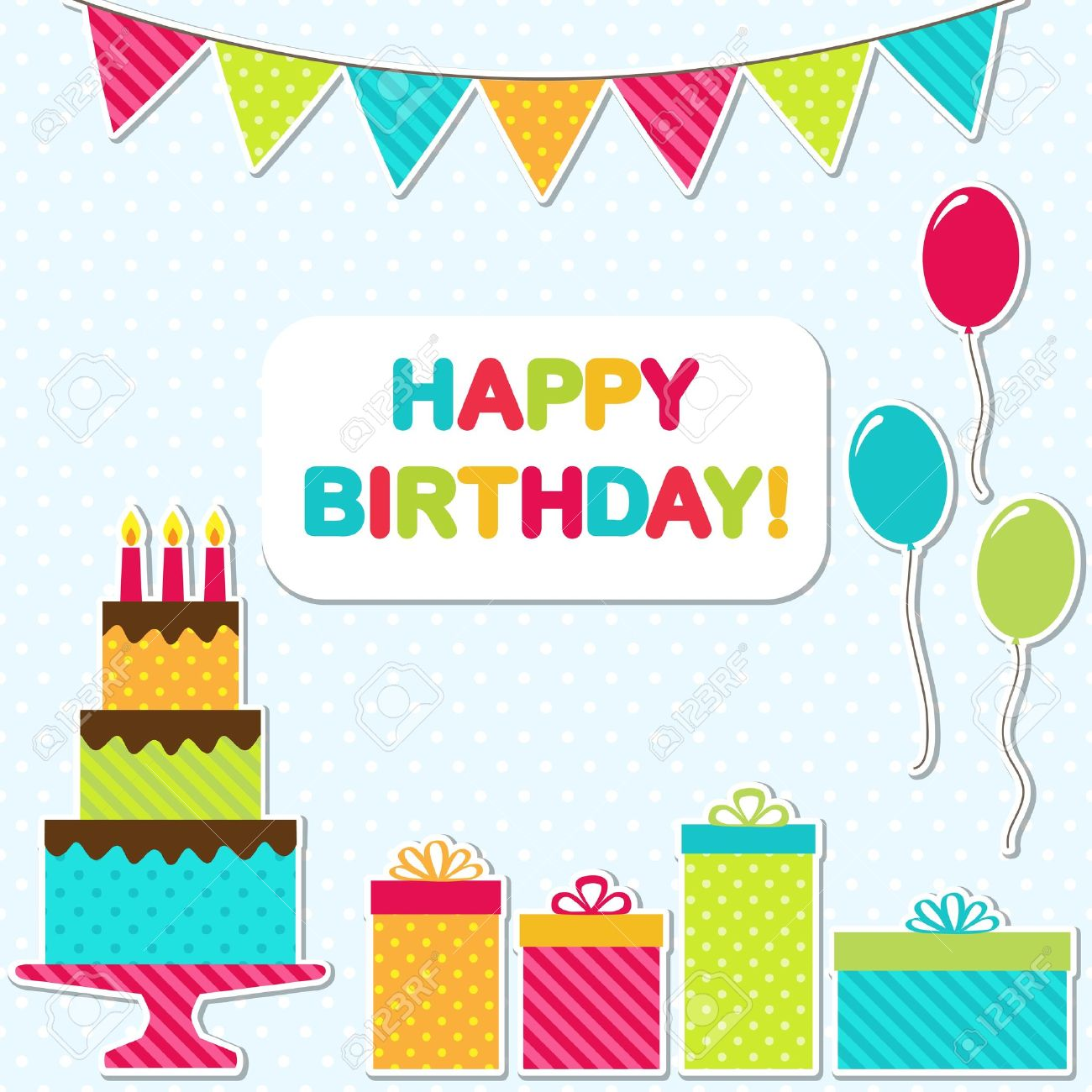 Vector Birthday Party Card Royalty Free Cliparts Vectors And – Vector Birthday Cards