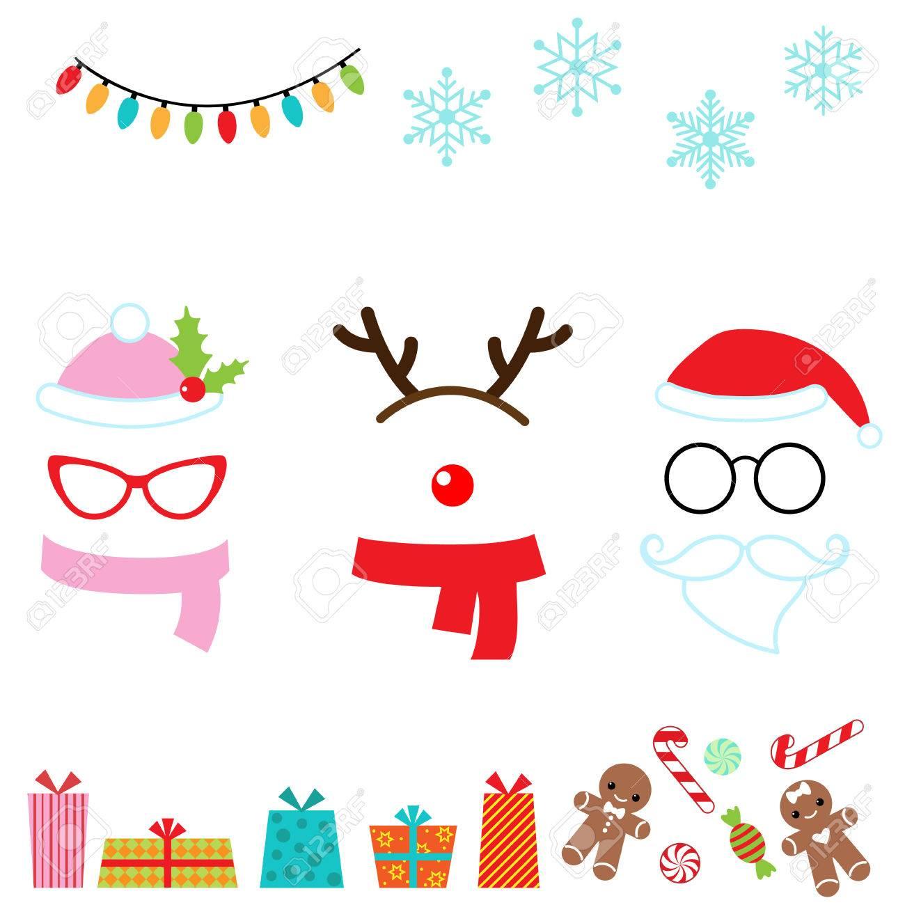 Noël vecteur photo de dessin animé stand accessoires