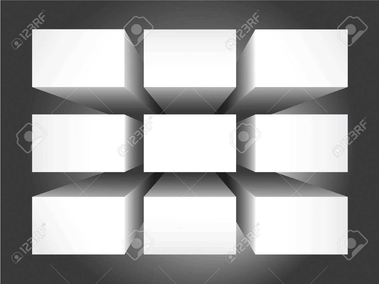 nine empty rectangular banners  for advertisements,  or for background Stock Photo - 13068121