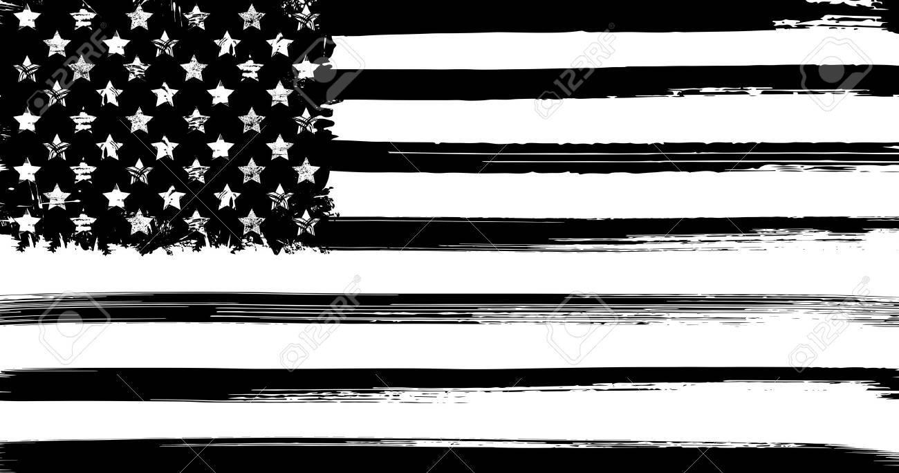 USA flag with ink grunge elements vector illustration - 65663745