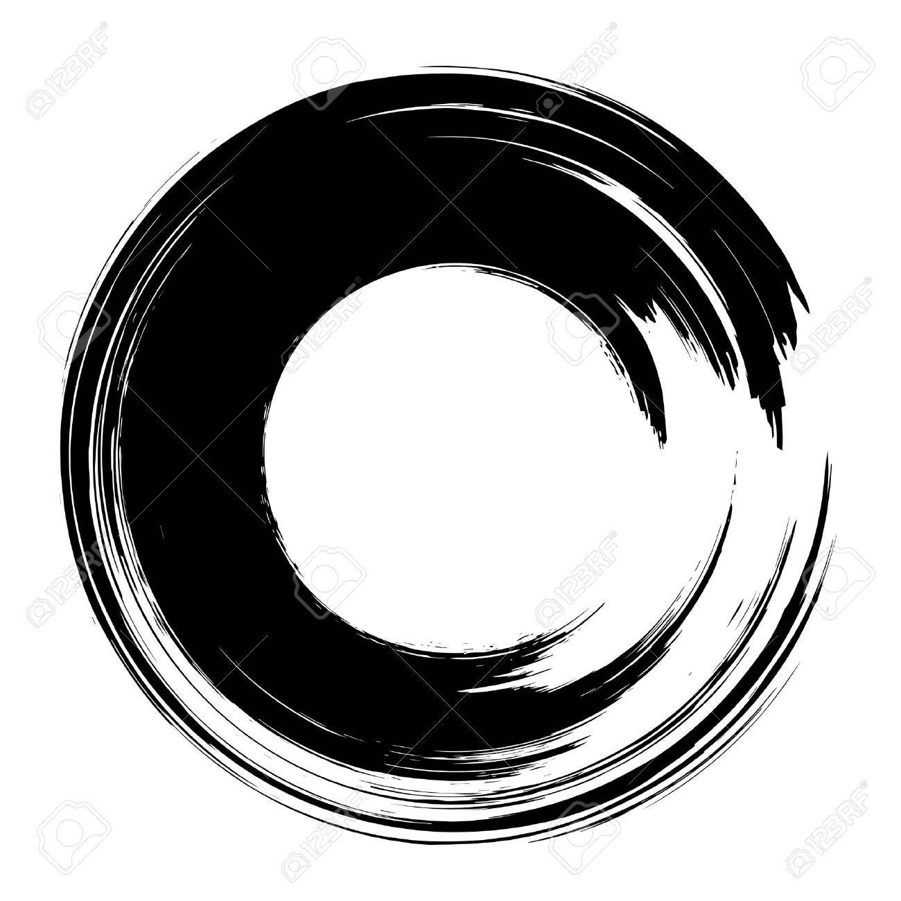 grunge hand drawn black paintbrush circle curved brush stroke rh 123rf com brush stroke vector free brush stroke vector free