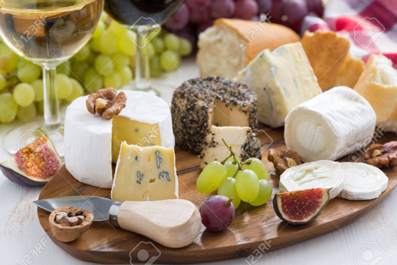 Cheese Platter Snacks And Wine Horizontal Stock Photo Picture And Royalty Free Image Image 32318982