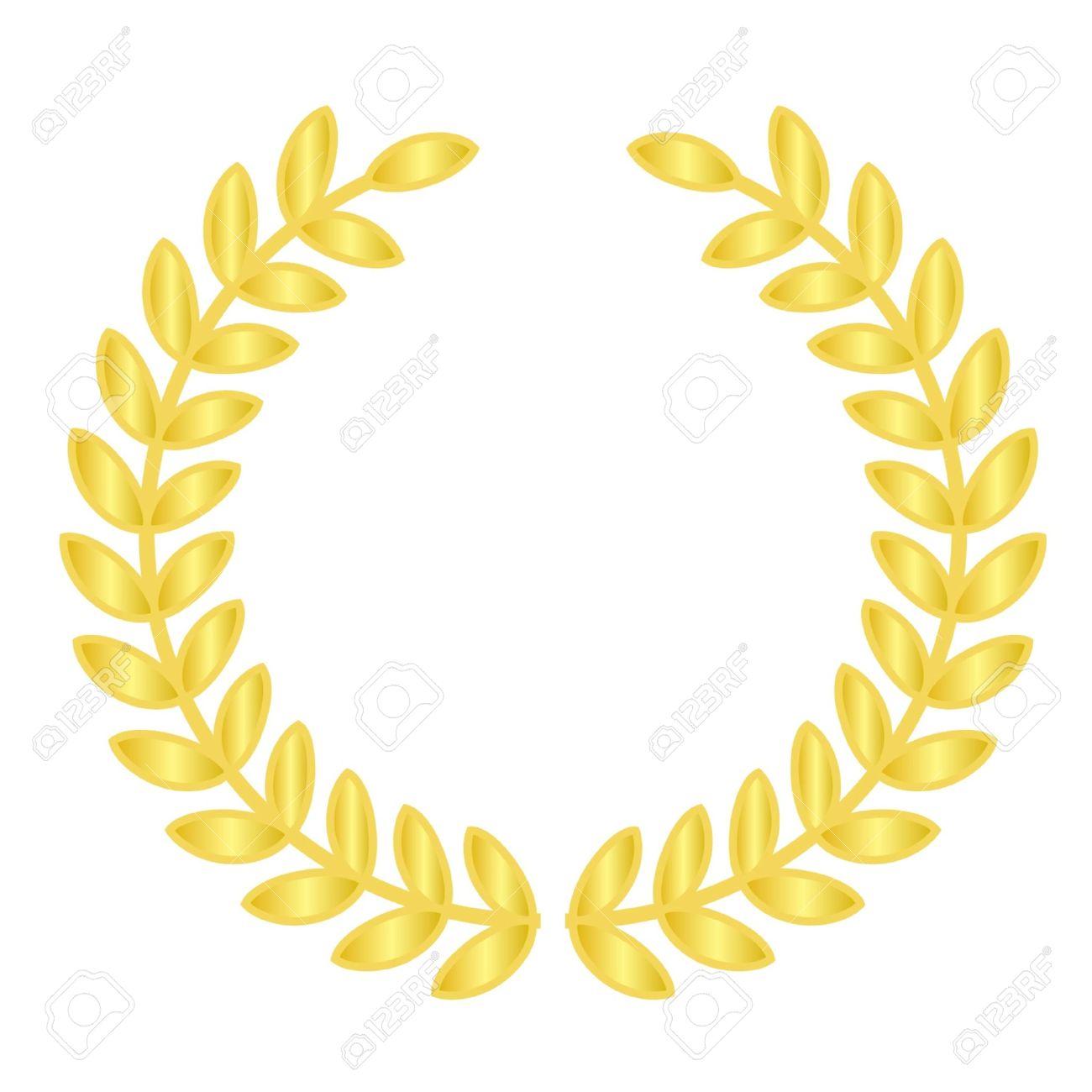 Vector illustration of gold laurels Stock Vector - 12358037