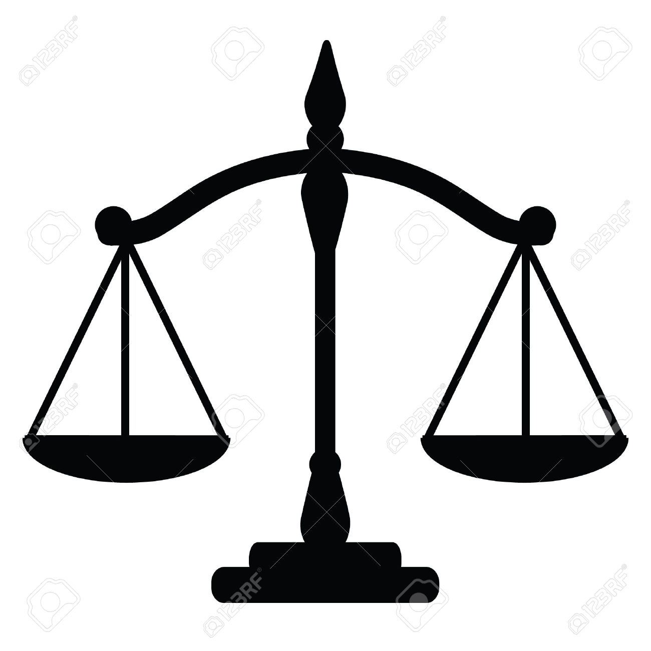 Vector Illustration Of Justice Scales Royalty Free Cliparts ...