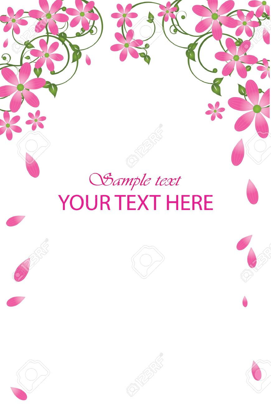 Vector frame with pink flowers Stock Vector - 12358092