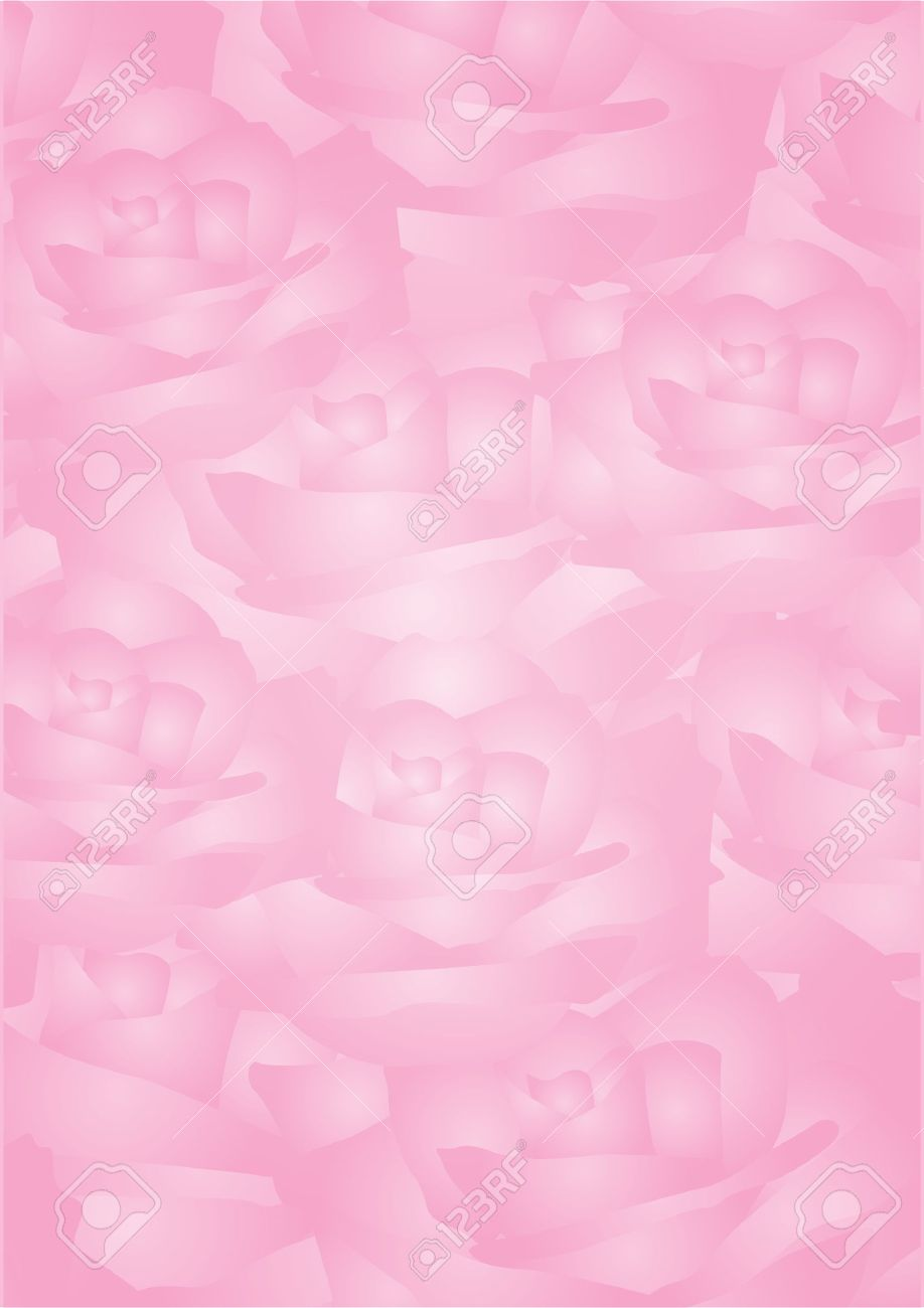 Vector pink background with roses Stock Vector - 12358082