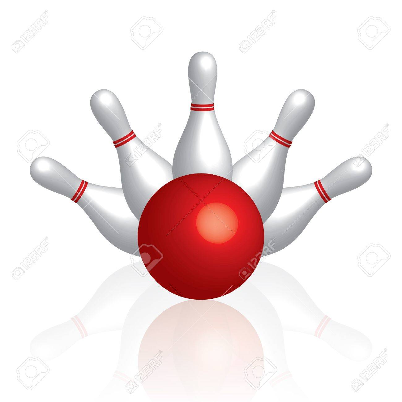 Bowling Stock Vector - 12358089