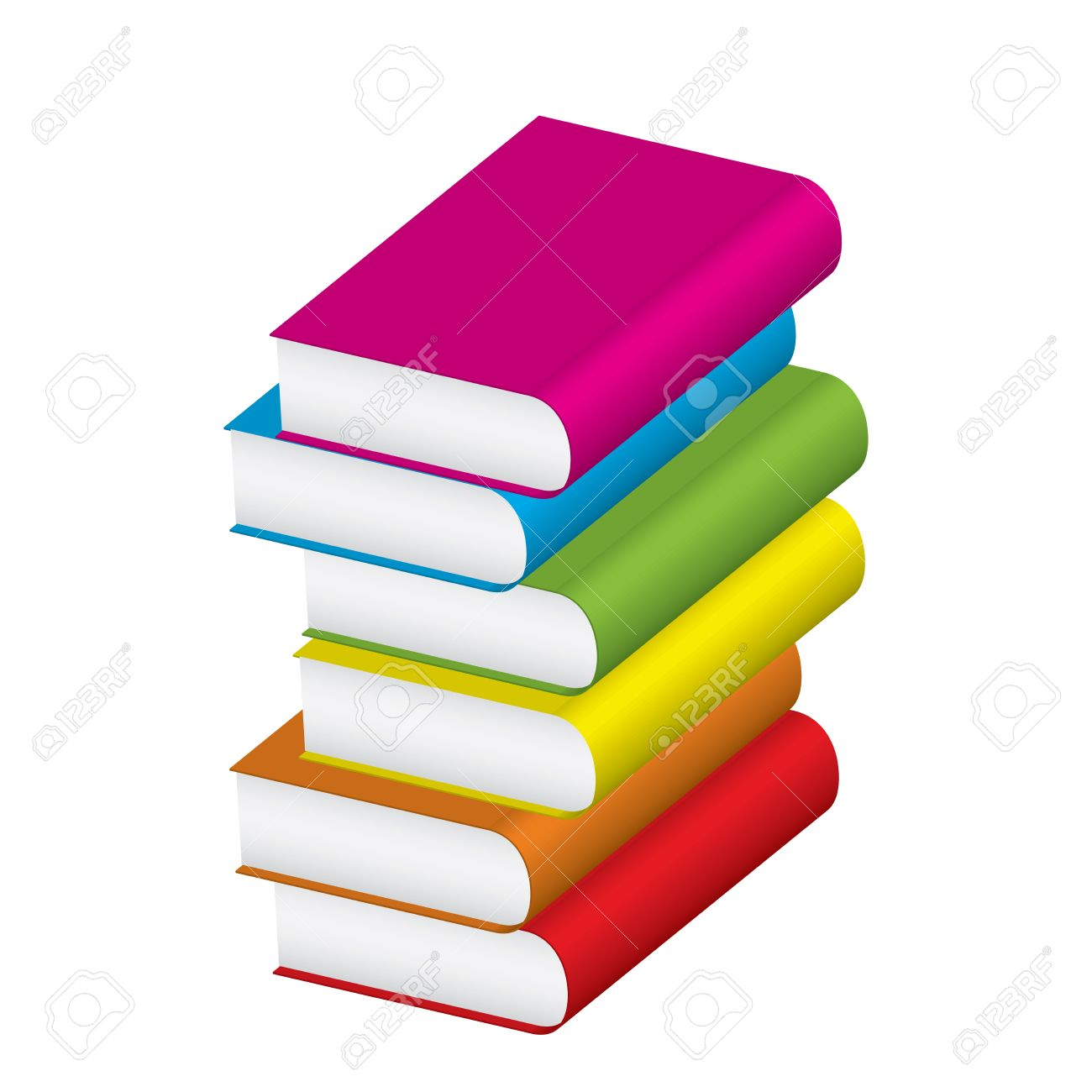 Vector Illustration Of Stack Of Colorful Books Royalty Free Cliparts ...