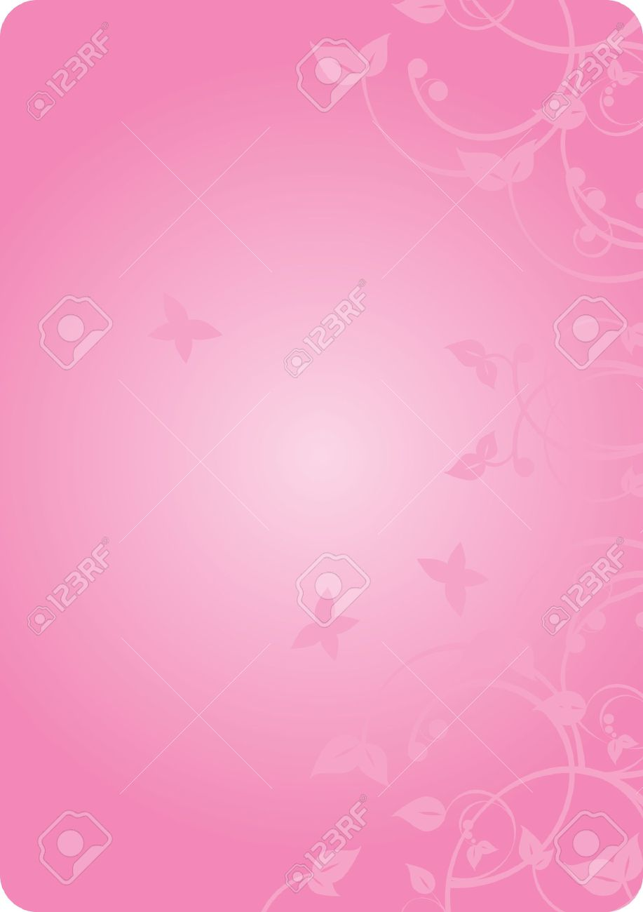 Vector pink background with flowers Stock Vector - 12358045