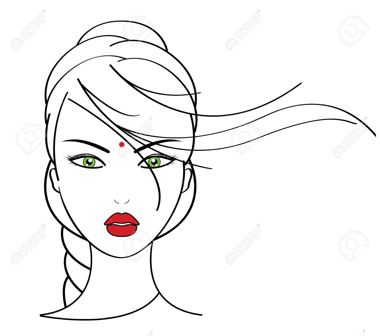 1,724 Woman With Face Massage Stock Vector Illustration And ...