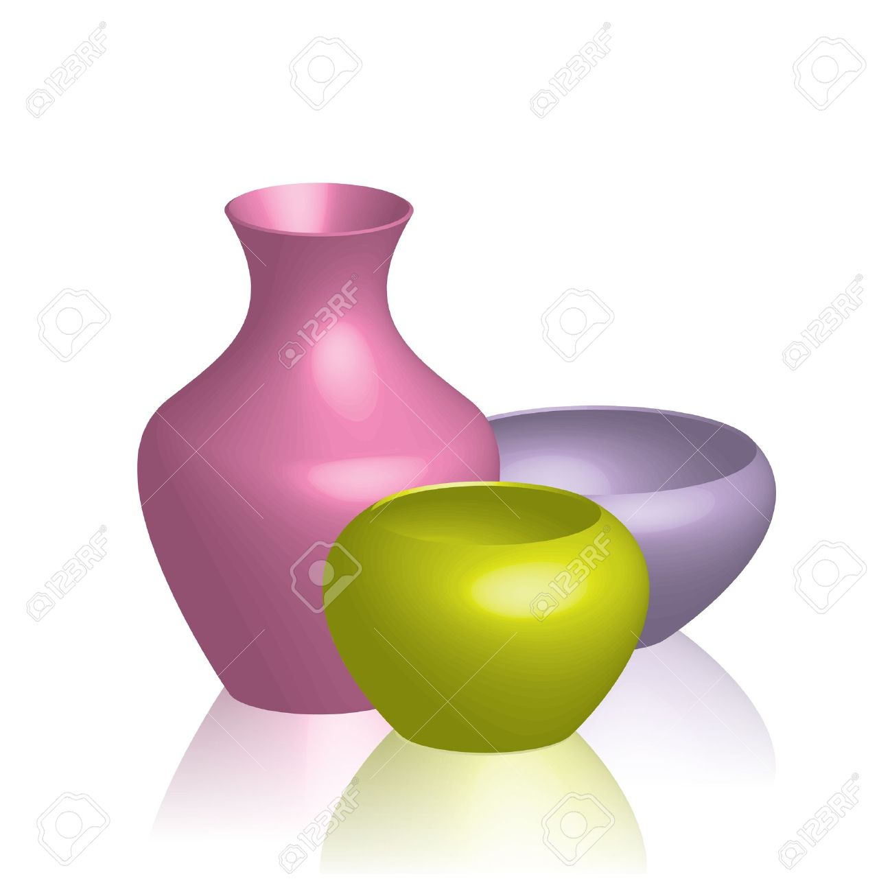 illustration of colorful vases Stock Vector - 12670503