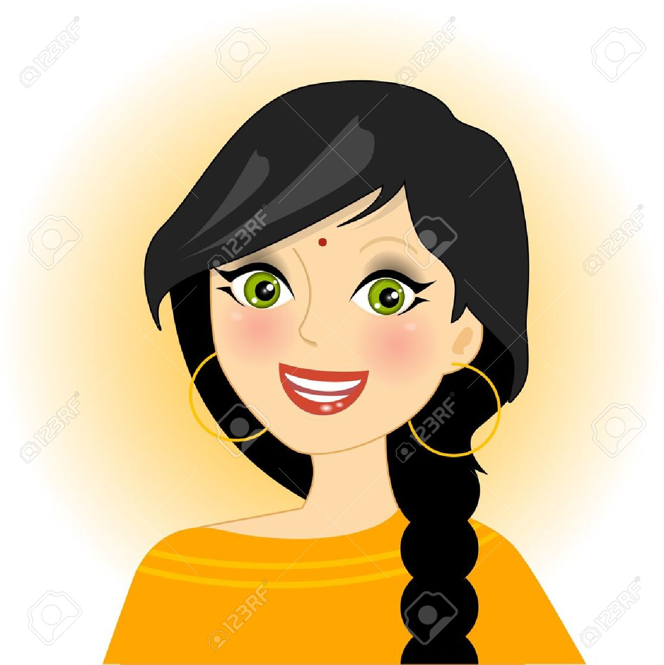 illustration of smiling indian girl royalty free cliparts vectors rh 123rf com indian girl clipart black and white Girl Scout Clip Art
