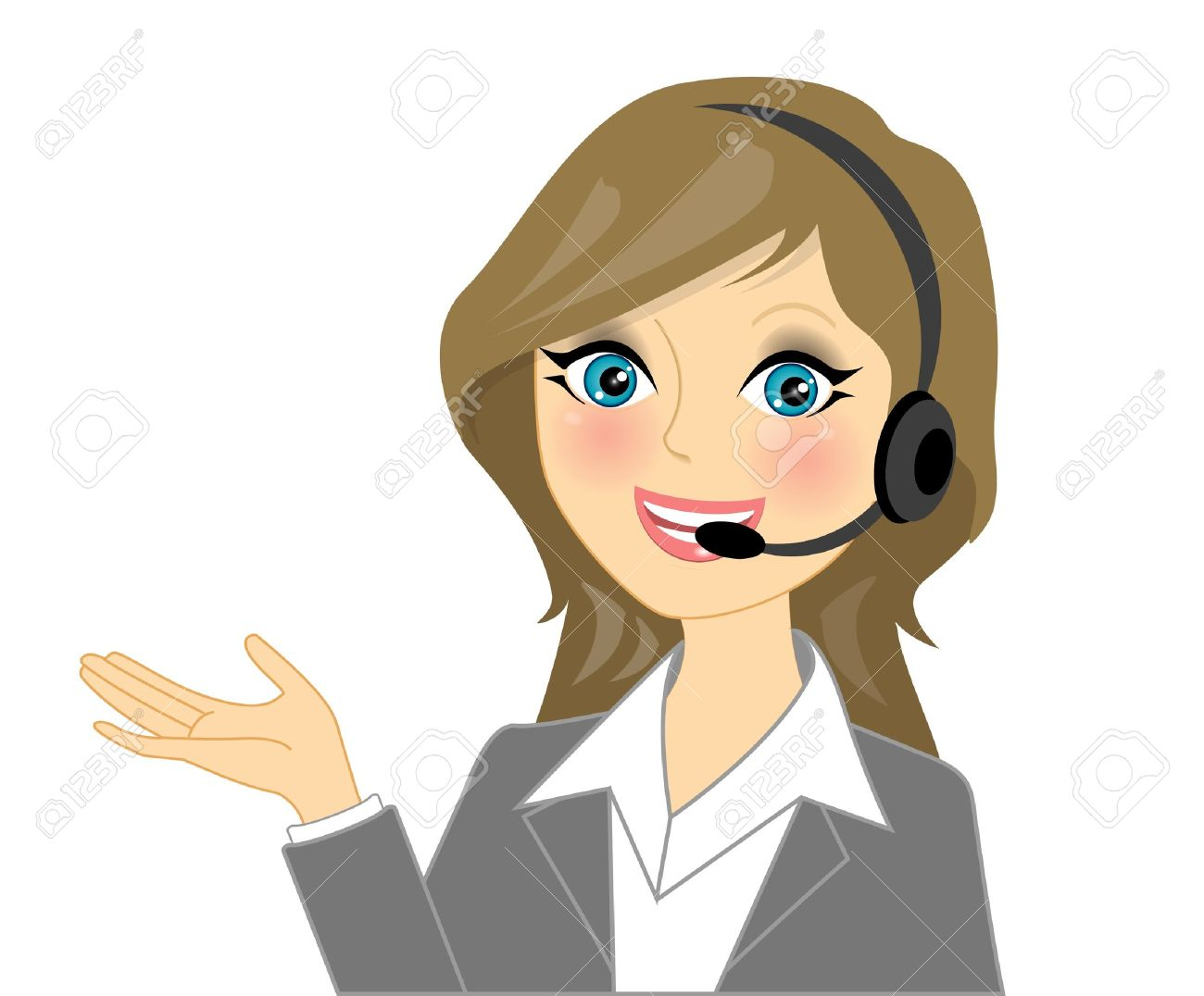 Vector telephone operator Stock Vector - 12668820