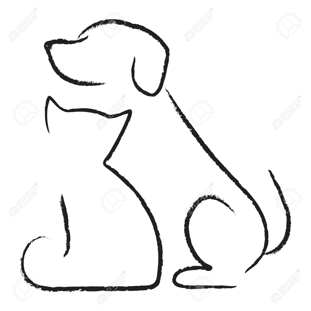 Icono del gato del perro Foto de archivo - 12670415