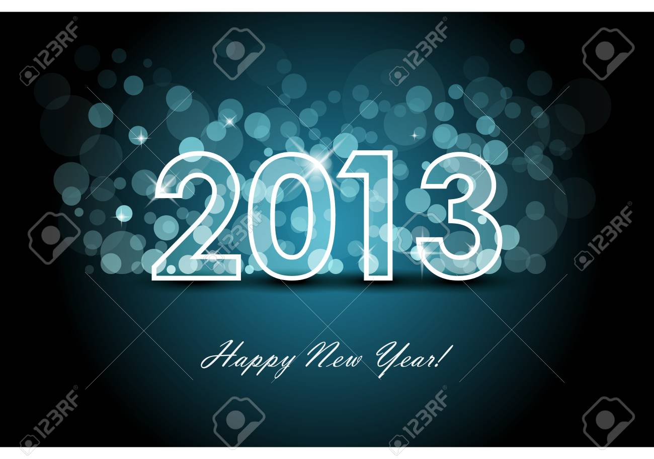 2013 - New year background Stock Vector - 12670935