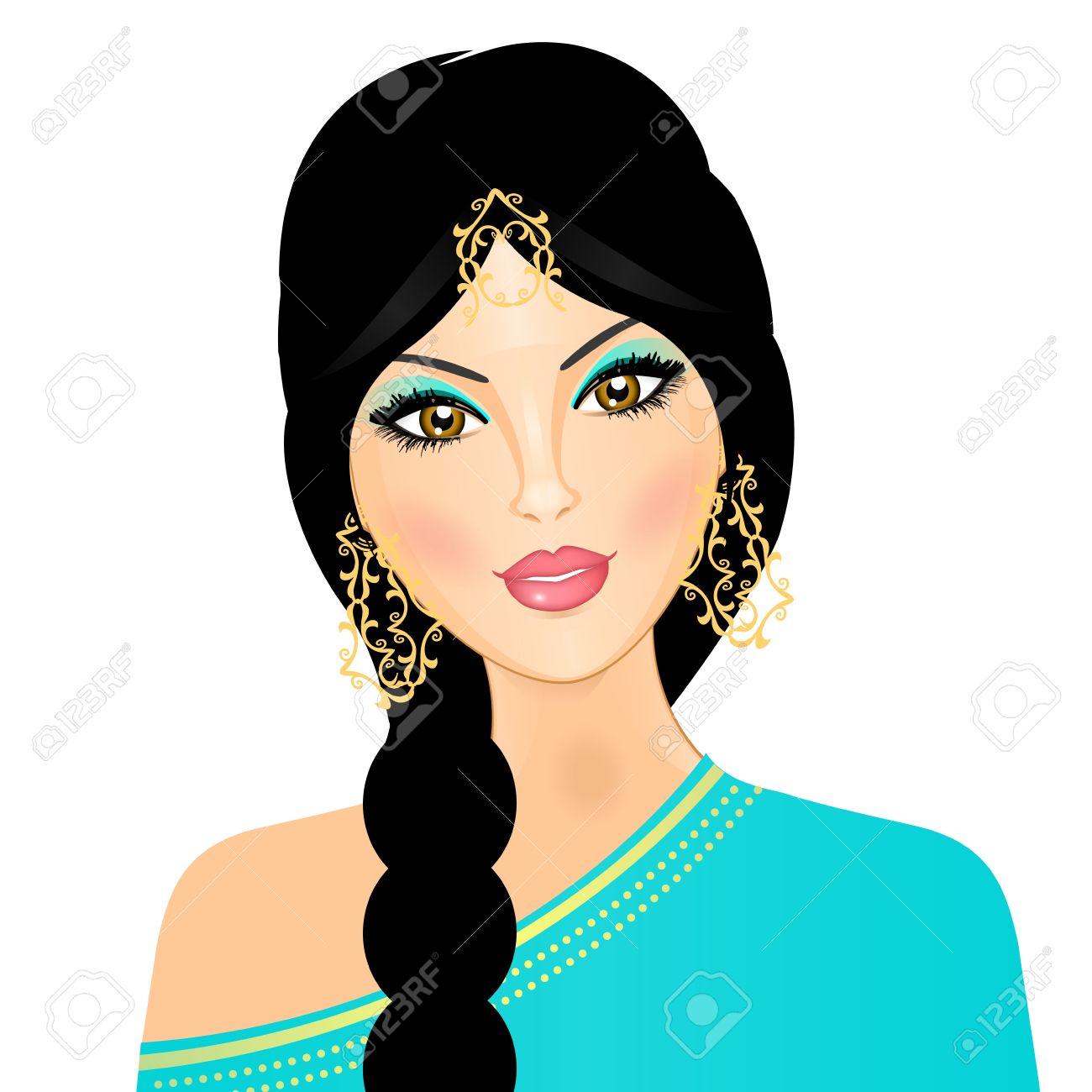 illustration of  eastern girl Stock Vector - 12672101