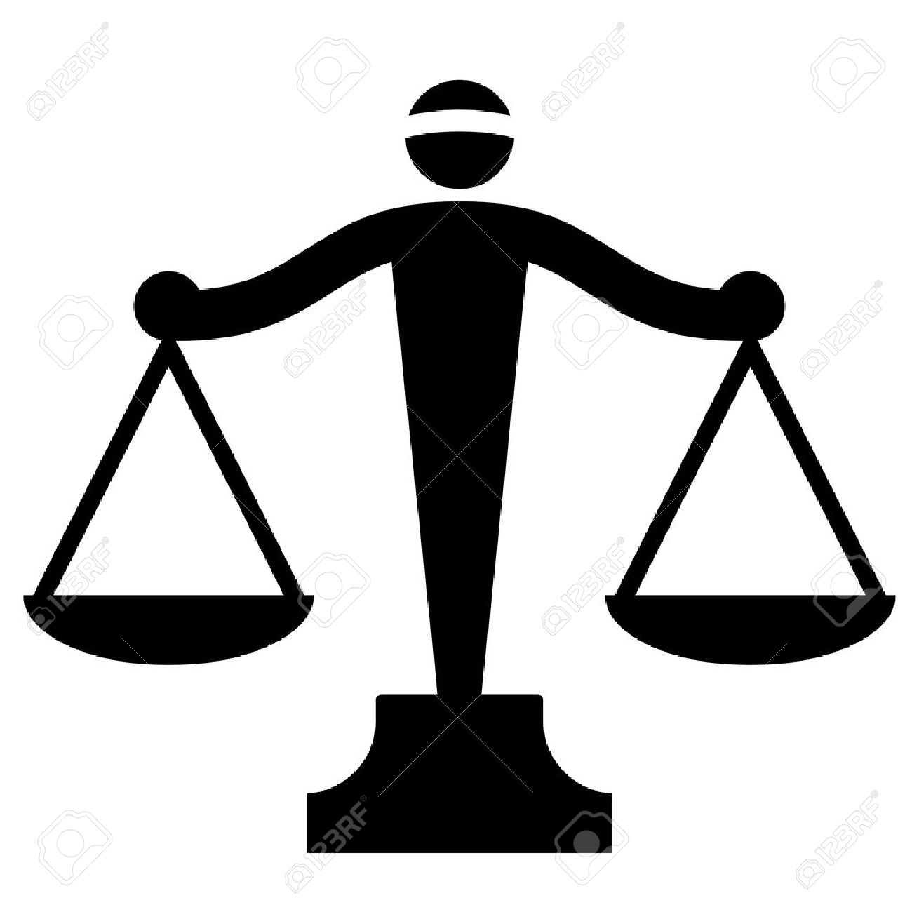 Vector icon of justice scales Stock Vector - 13046419