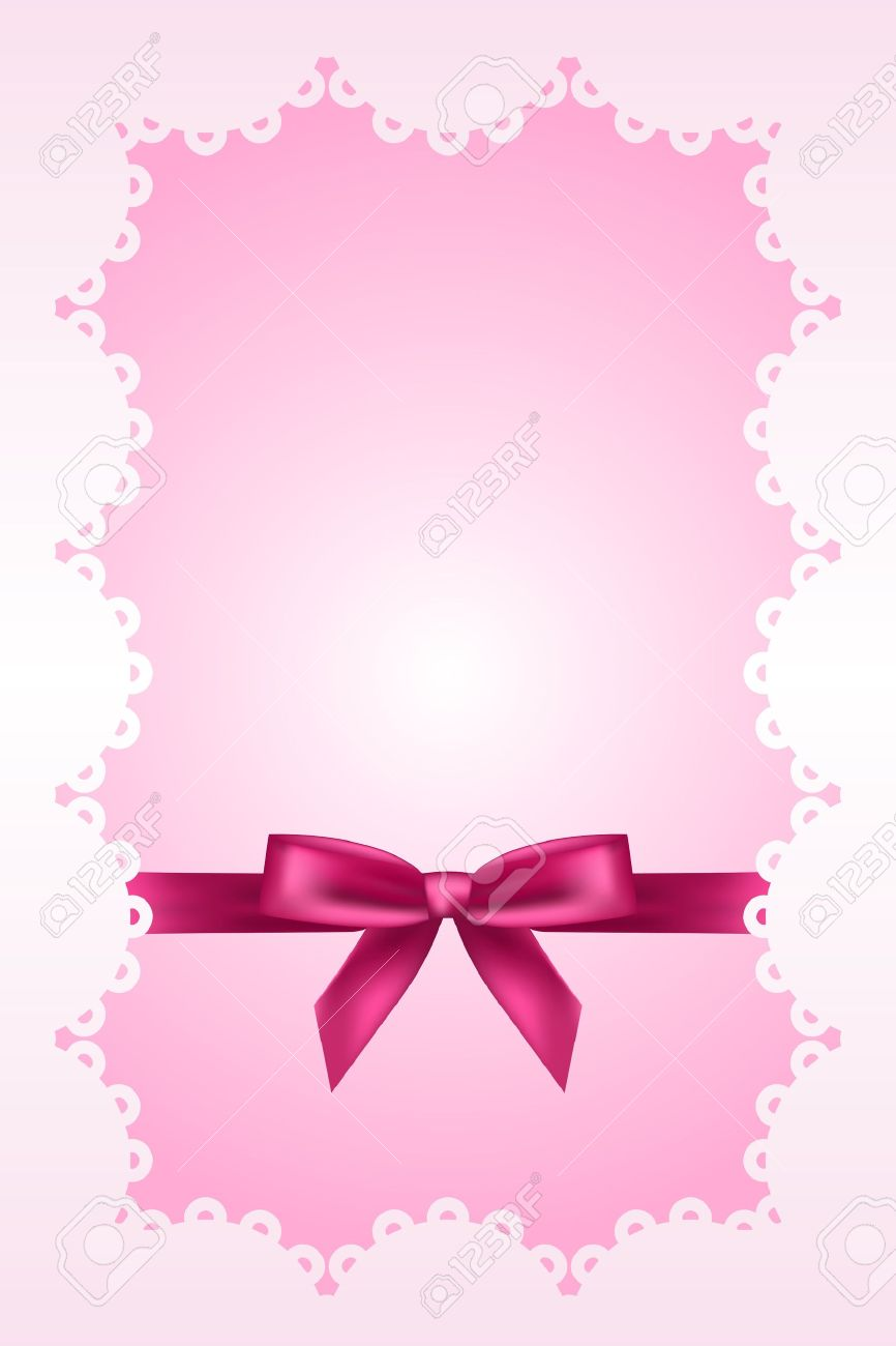 baby pink background with lace and ribbon royalty free cliparts